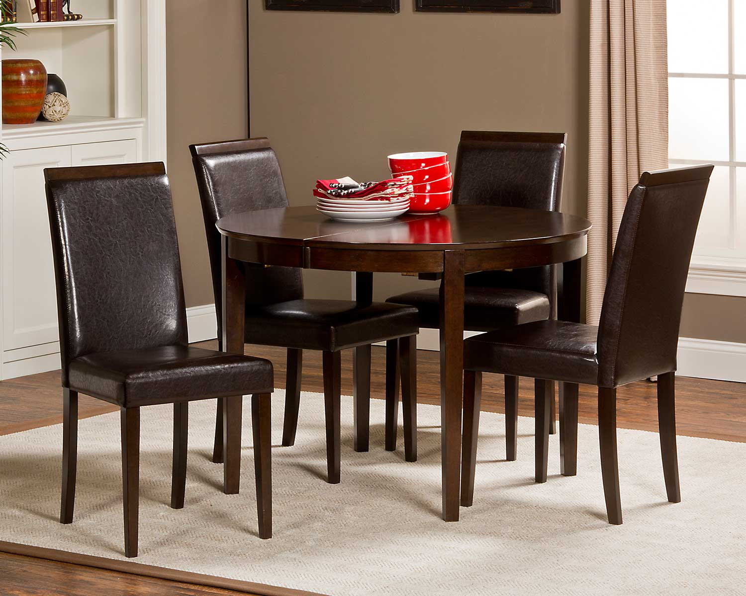 Hillsdale Atmore 5 piece Dining Set - Cappuccino