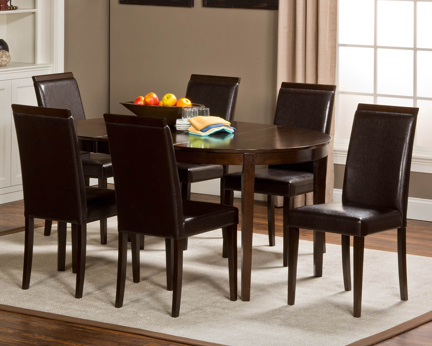 Hillsdale Atmore 7 piece Dining Set - Cappuccino