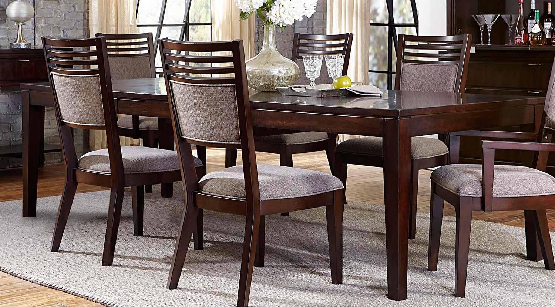Hillsdale Denmark 5PC Dining Set - Dark Espresso - Woven Umber Fabric