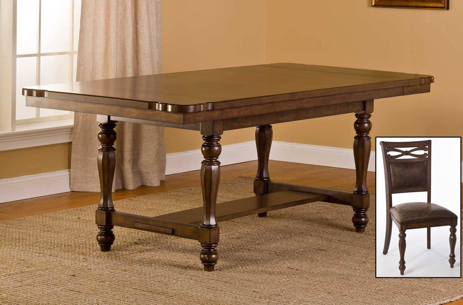 Hillsdale Seaton Springs Dining Set- Weathered Walnut