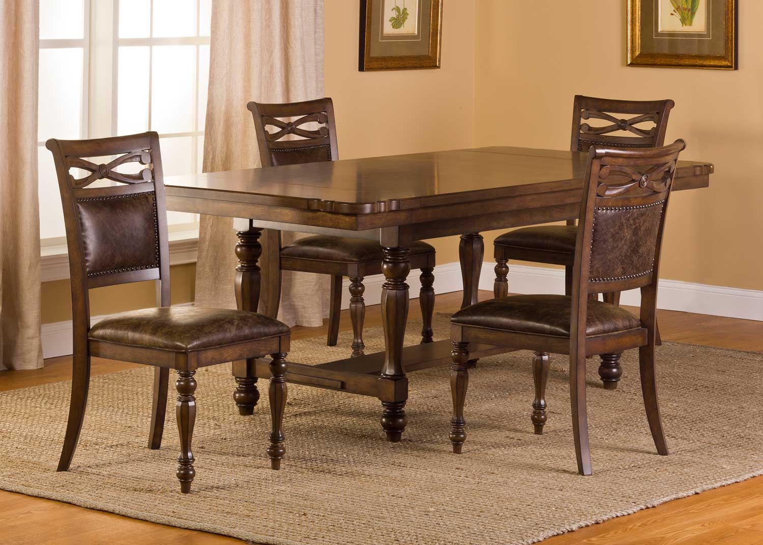 Hillsdale Seaton Springs 5 pc Dining Set - Weathered Walnut