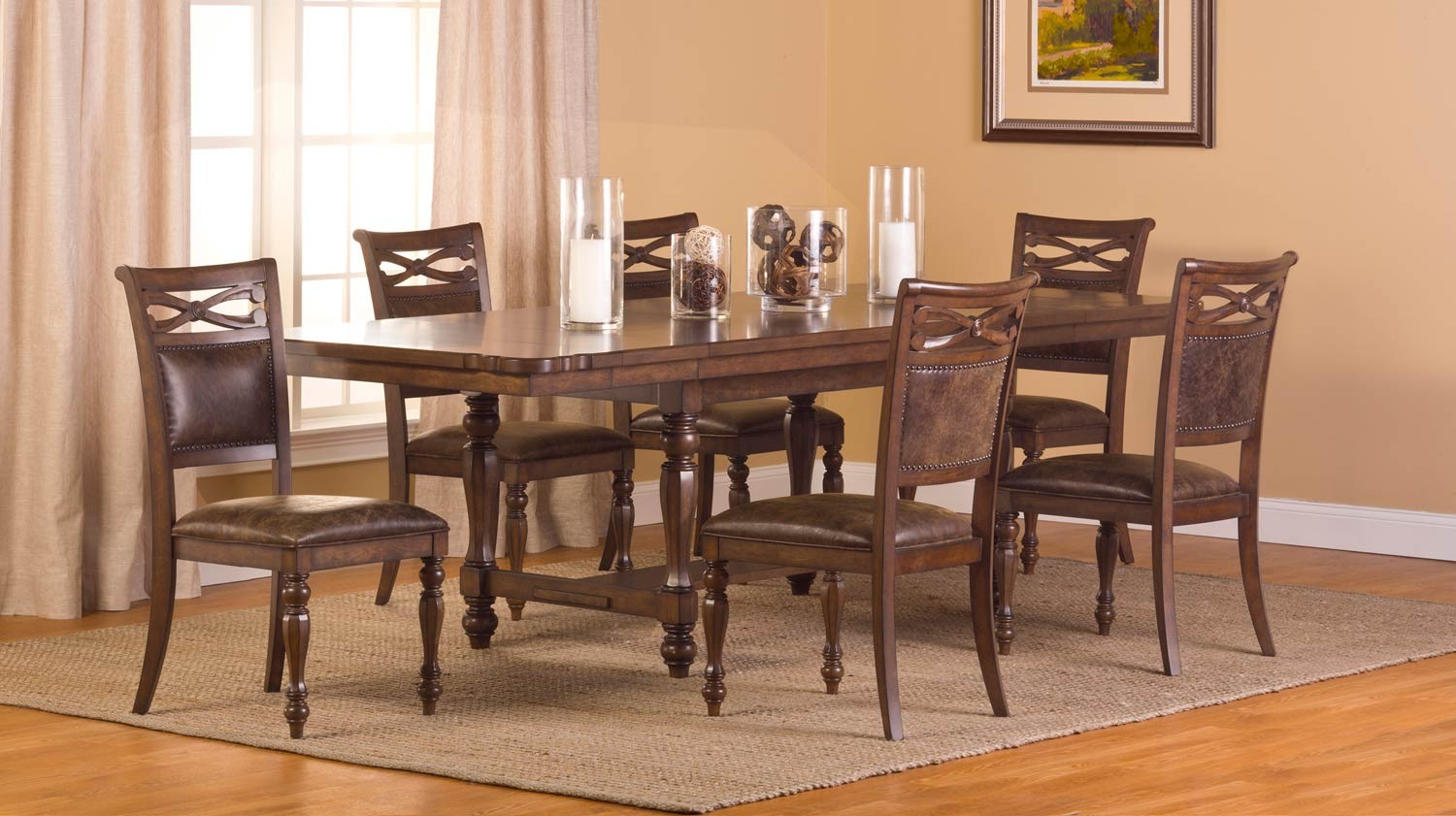 Hillsdale Seaton Springs 7 pc Dining Set - Weathered Walnut