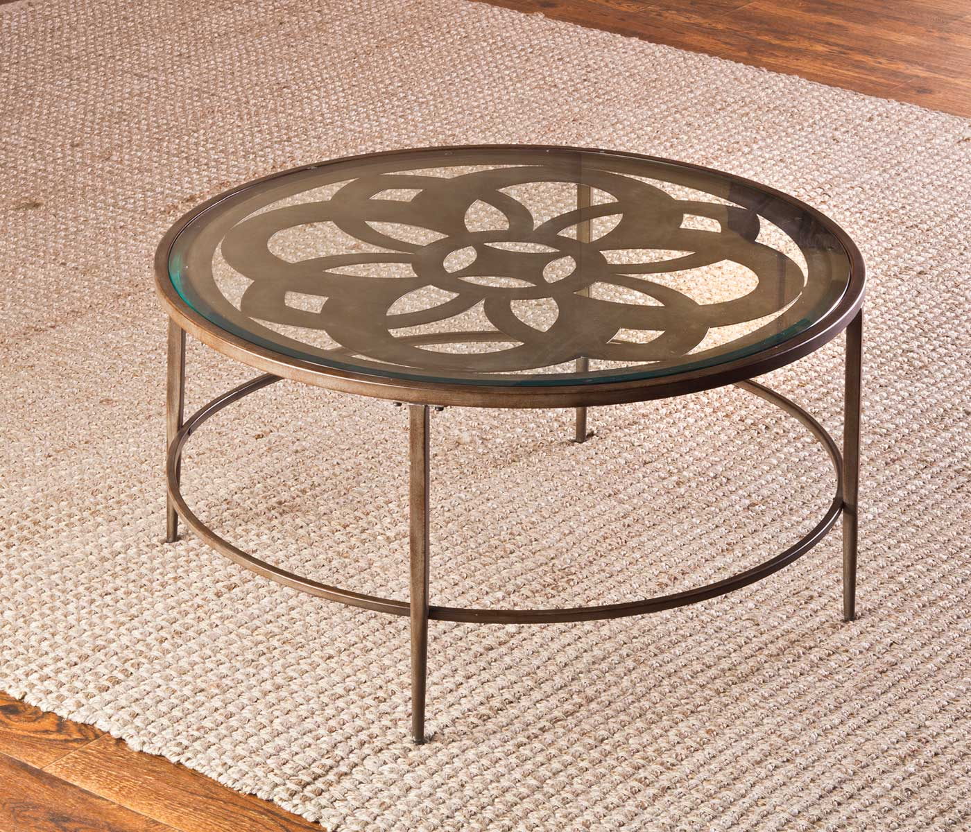 Hillsdale Marsala Coffee Table Set - Glass