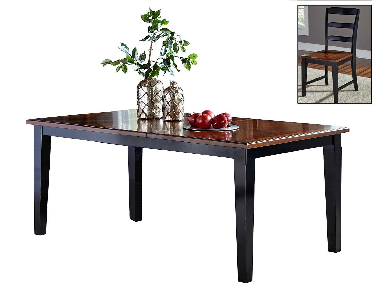 Hillsdale Avalon Extension Dining Set - Black/Cherry