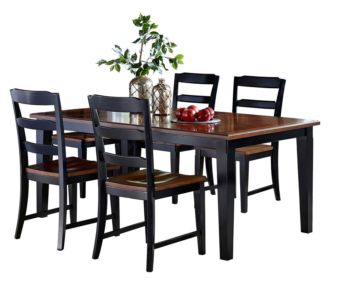 Hillsdale Avalon 5 PC Dining Set - Black/Cherry