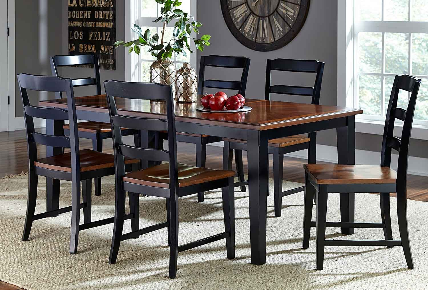 Hillsdale Avalon 7 PC Dining Set - Black/Cherry
