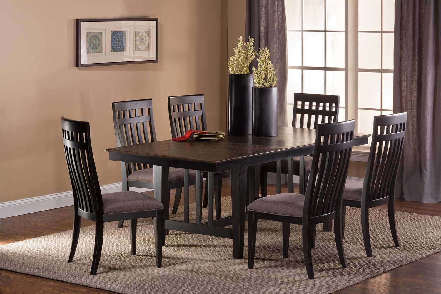 Hillsdale Copeland Dining Set - Distressed Black