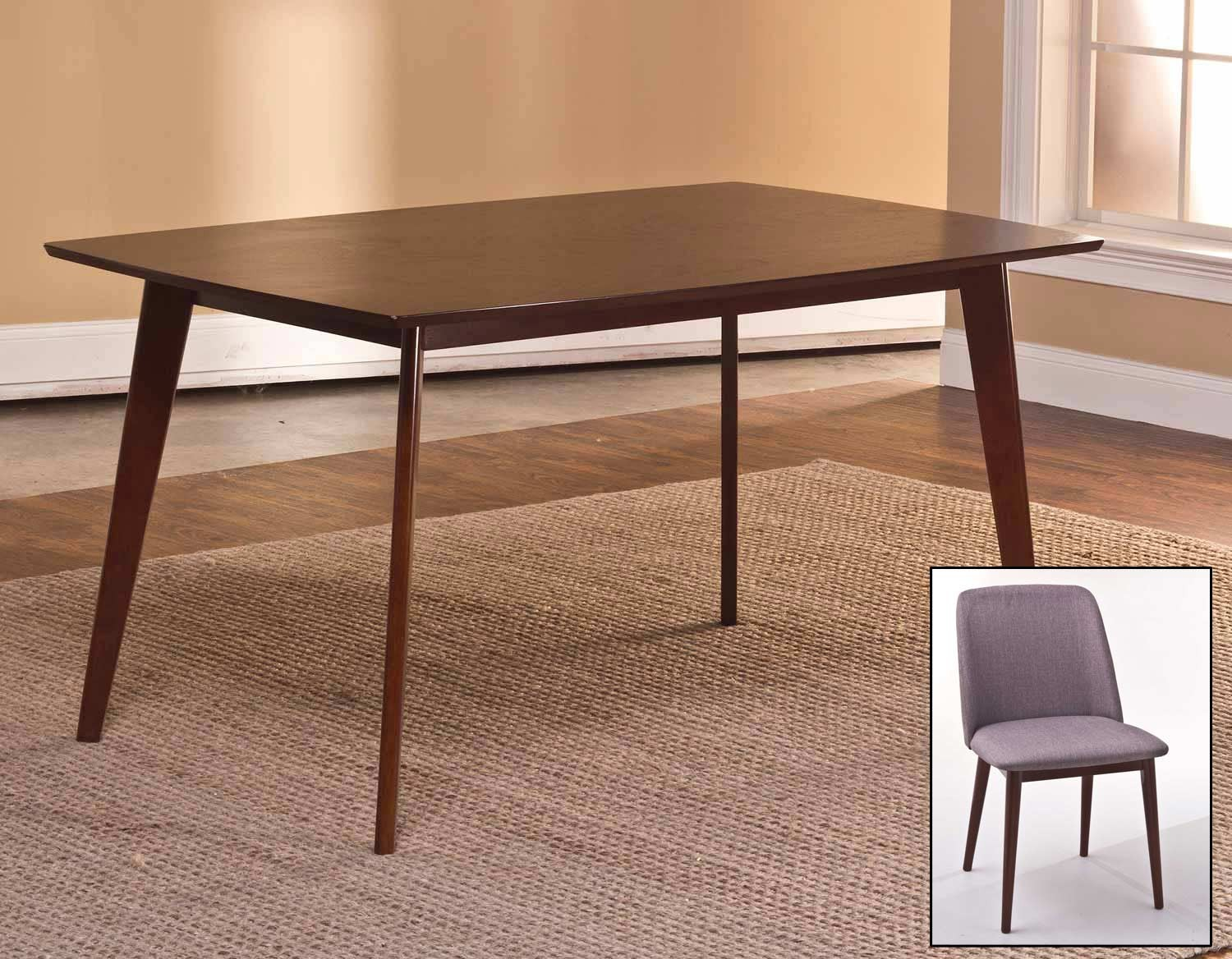 Hillsdale Allentown Dining Set - Cappuccino