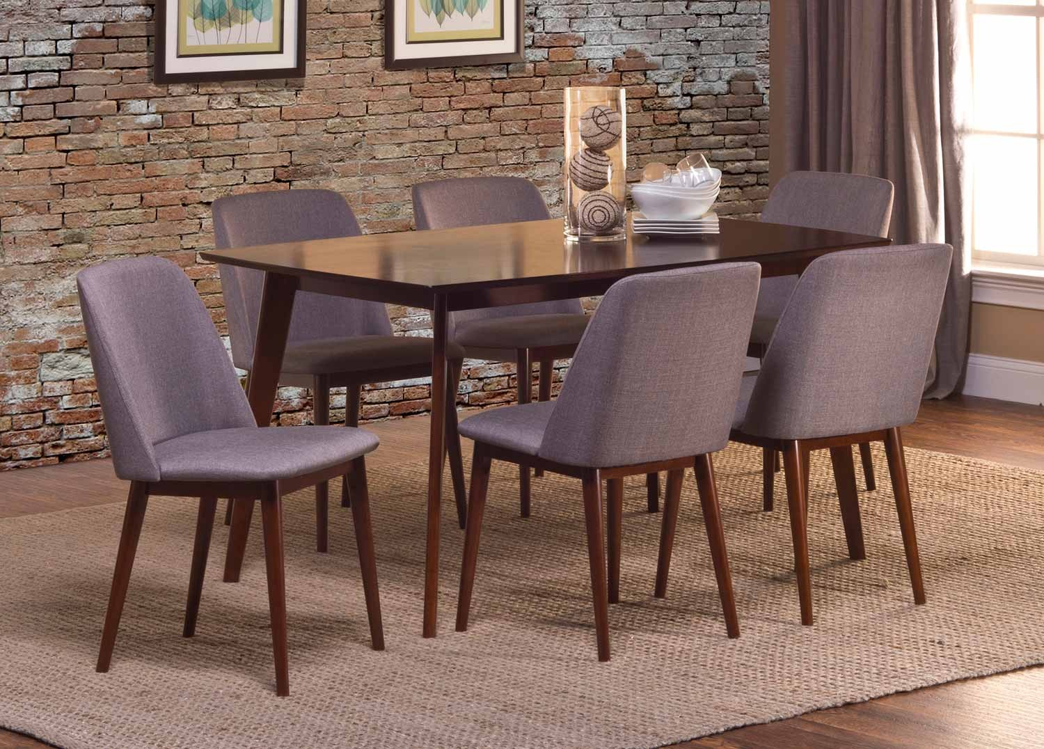 Hillsdale Allentown 7 Piece Dining Set - Cappuccino