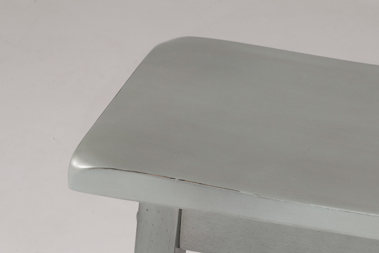 Hillsdale Moreno Non-Swivel Backless Bar Stool - Blue/Gray - Ecru Fabric