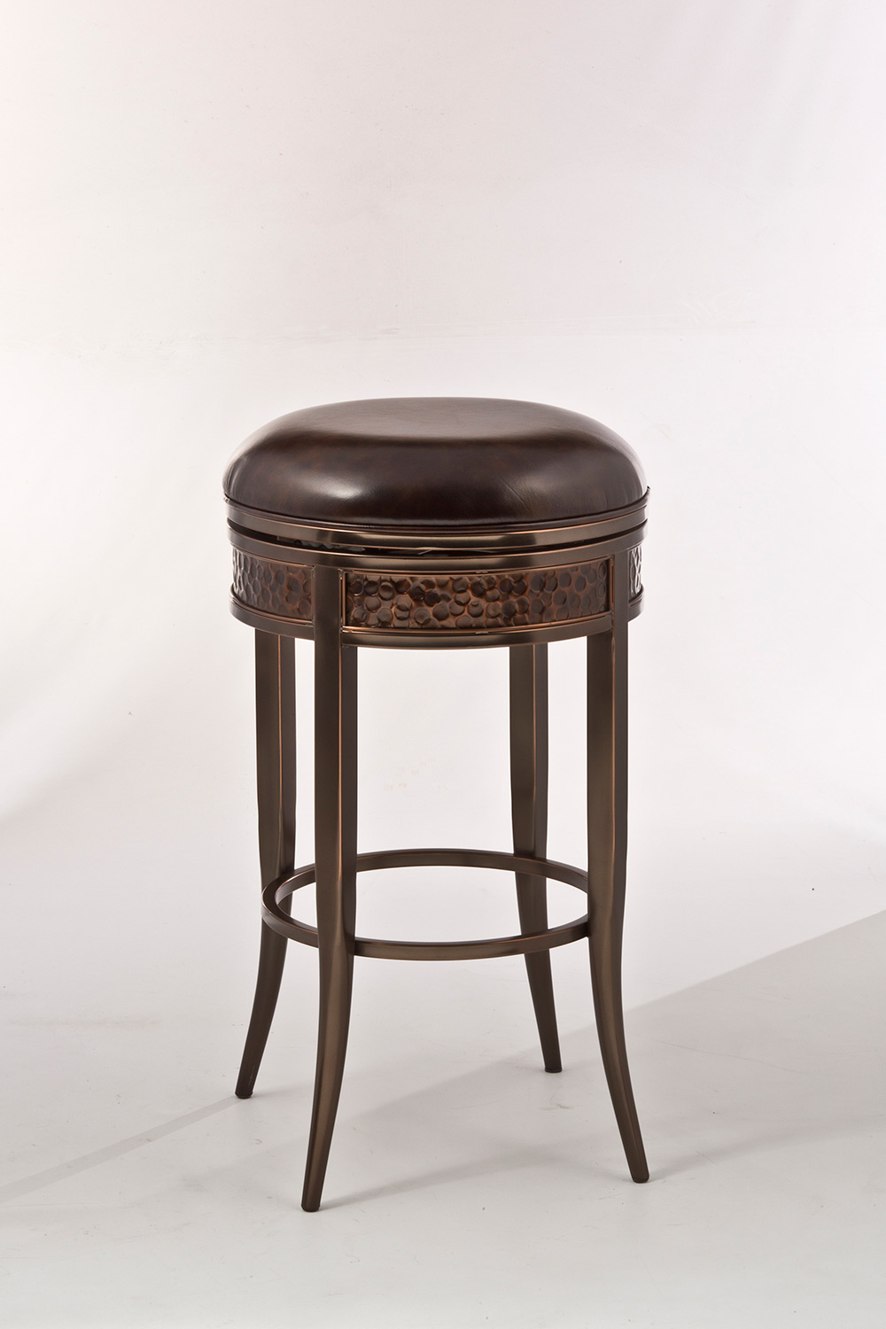 Hillsdale Parkside Backless Swivel Counter Stool - Copper ...