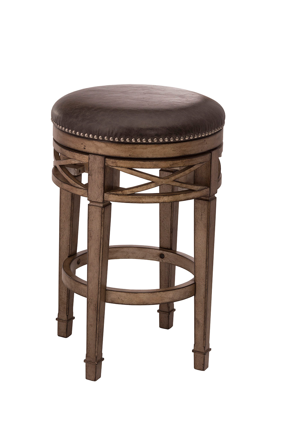 Hillsdale Chesterfield Backless Swivel Counter Stool