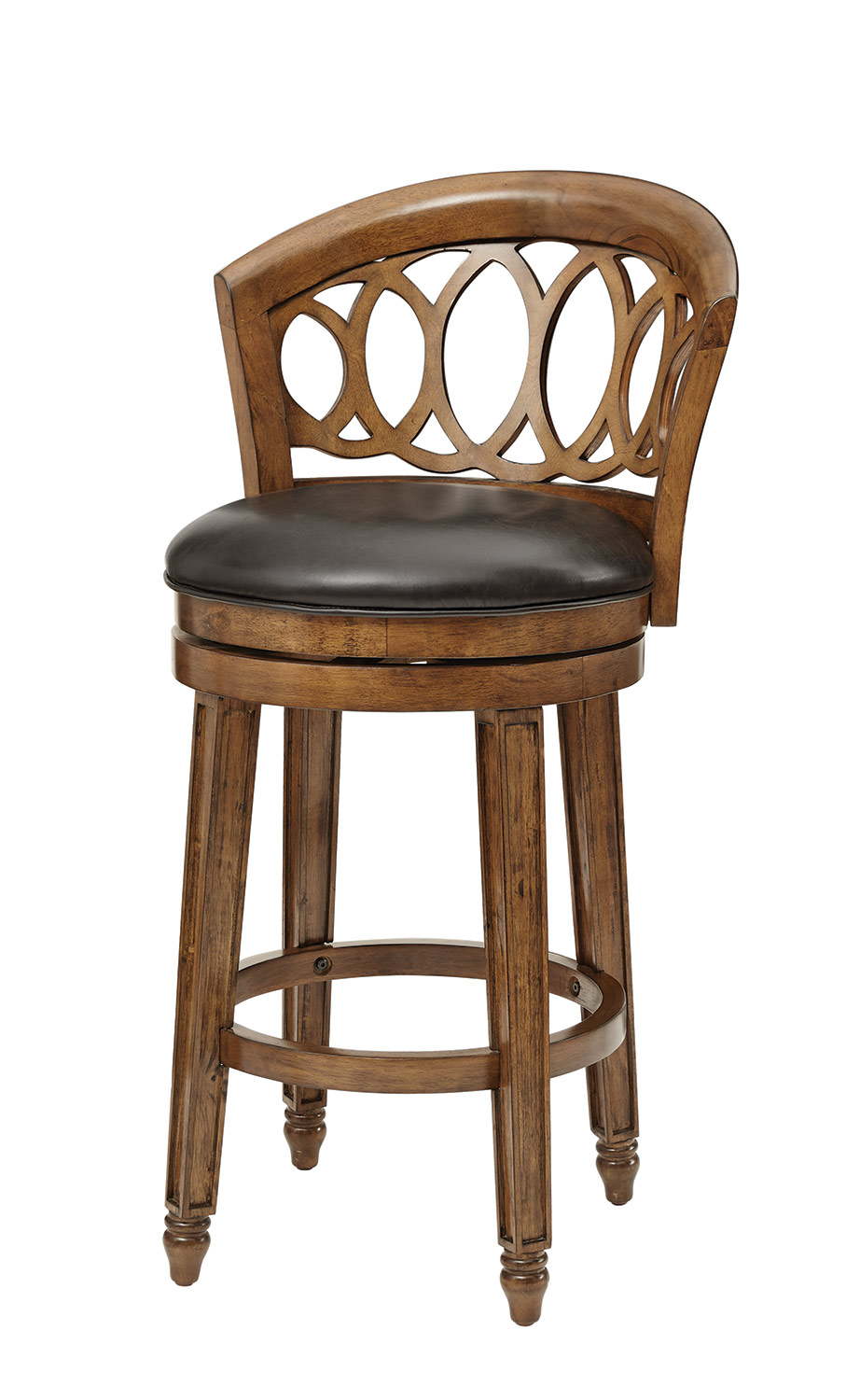 Hillsdale Adelyn Swivel Bar Stool - Brown Cherry Finish