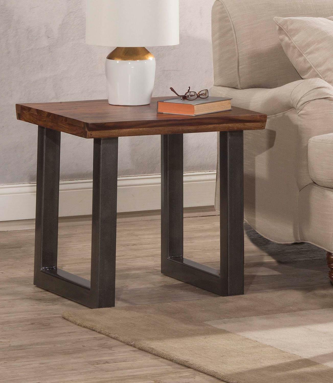 Hillsdale Emerson End Table - Sheesham/Grey