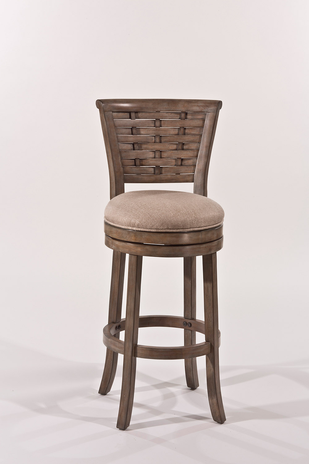 Hillsdale Thredson Swivel Counter Stool - Light Antique Graywash - Putty Fabric