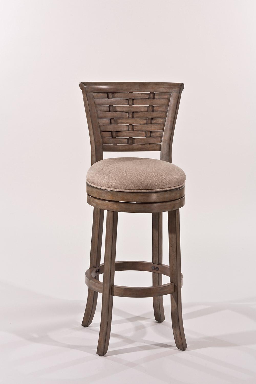 Hillsdale Thredson Swivel Bar Stool - Light Antique Graywash - Putty Fabric