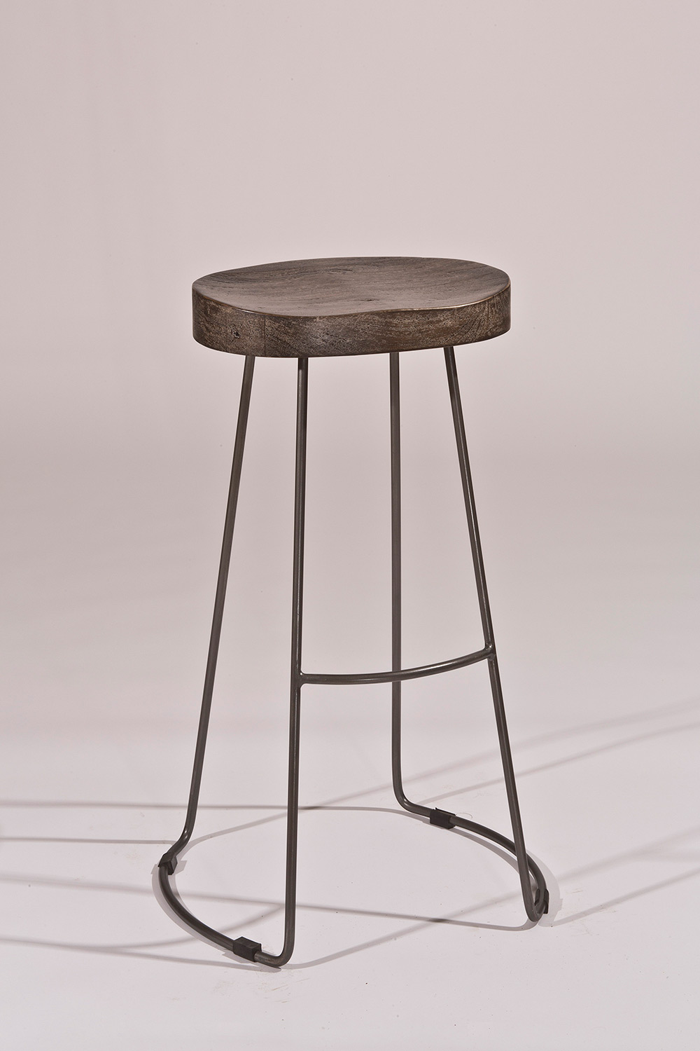 Hillsdale Hobbs Tractor Non-Swivel Counter Stool - Distressed Black/Pewter