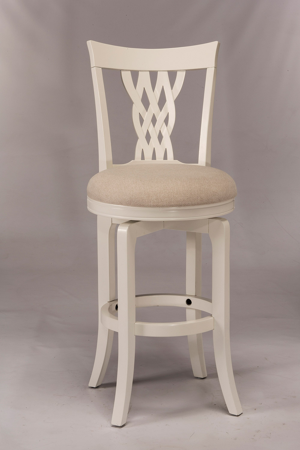 Hillsdale Embassy Swivel Bar Stool - White