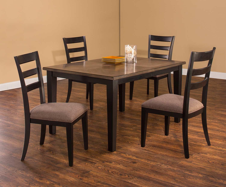 Hillsdale Sheridan 5-Piece Dining Set - Black/Gray