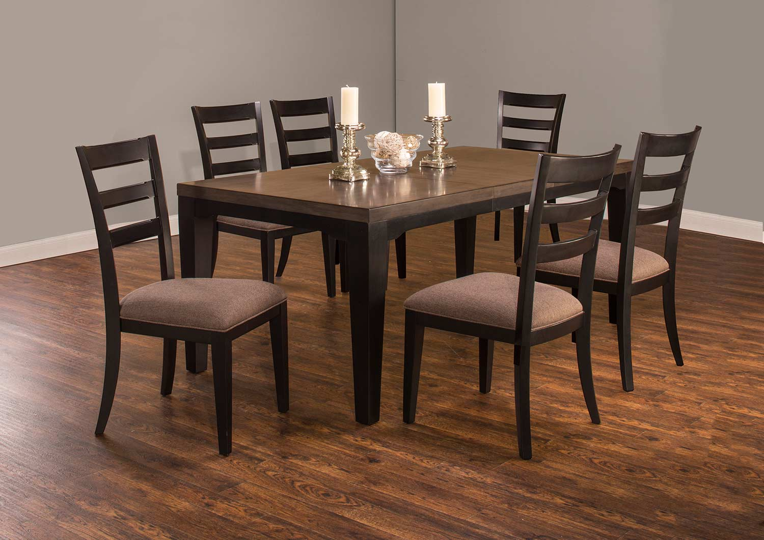 Hillsdale Sheridan 7-Piece Dining Set - Black/Gray