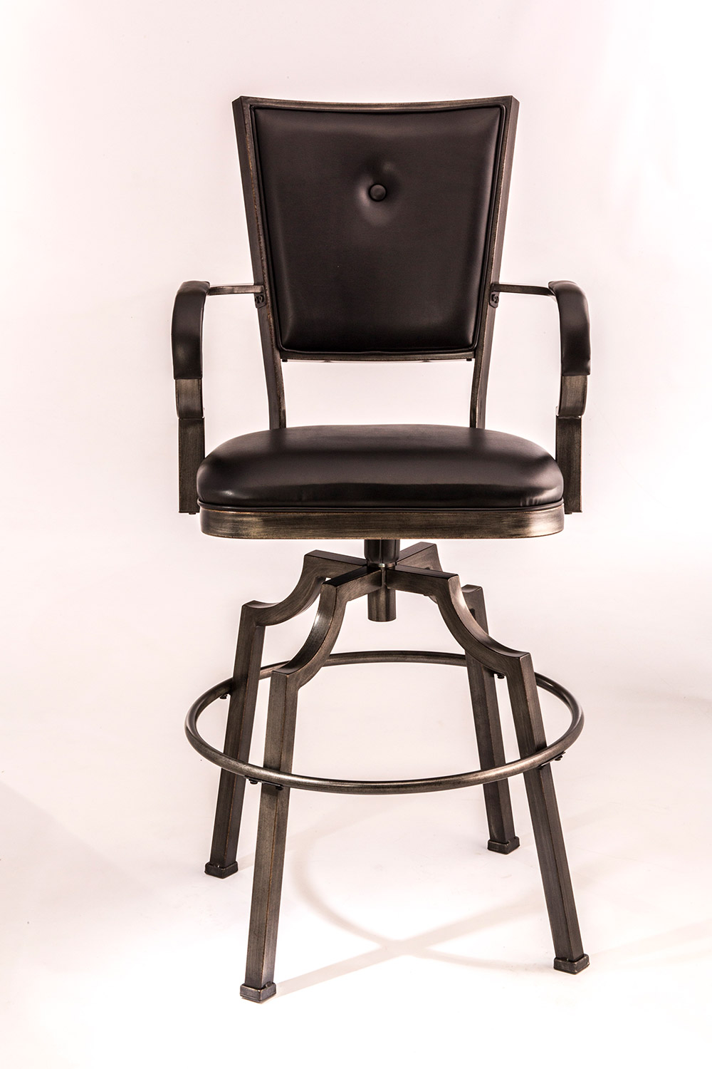 Hillsdale Castlebrook Swivel Bar Stool - Bronze Pewter
