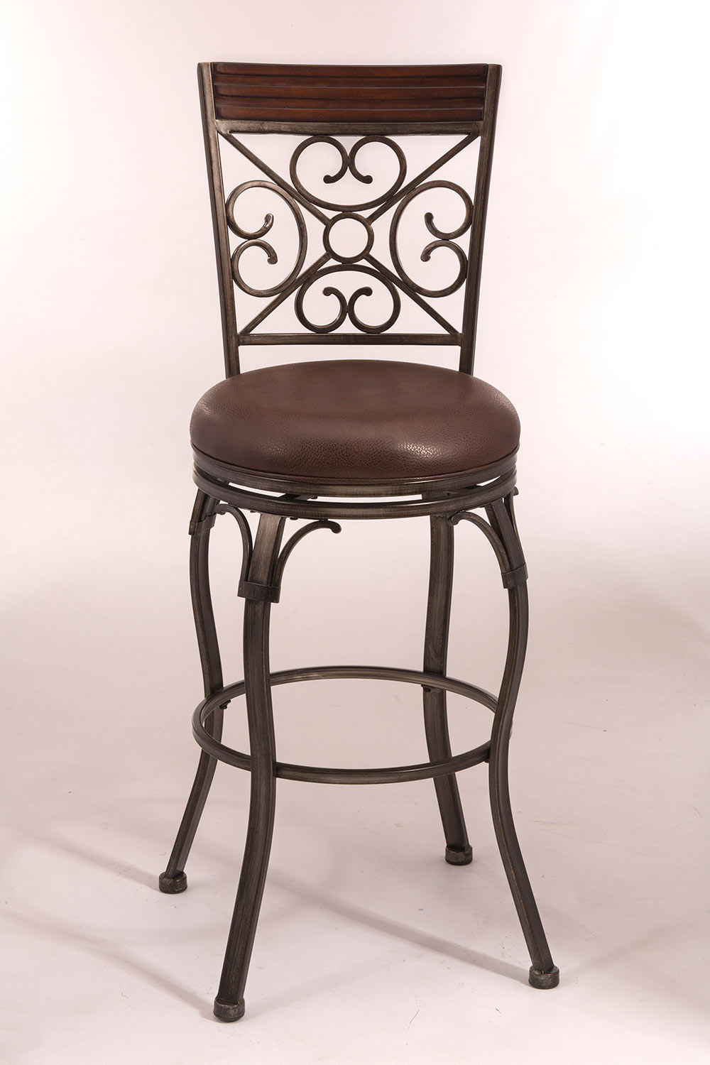 Hillsdale Jemison Swivel Bar Stool Brushed Gray Brown