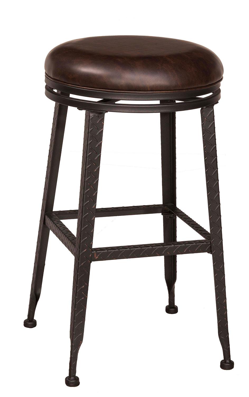 Hillsdale Hale Backless Swivel Bar Stool Black Copper