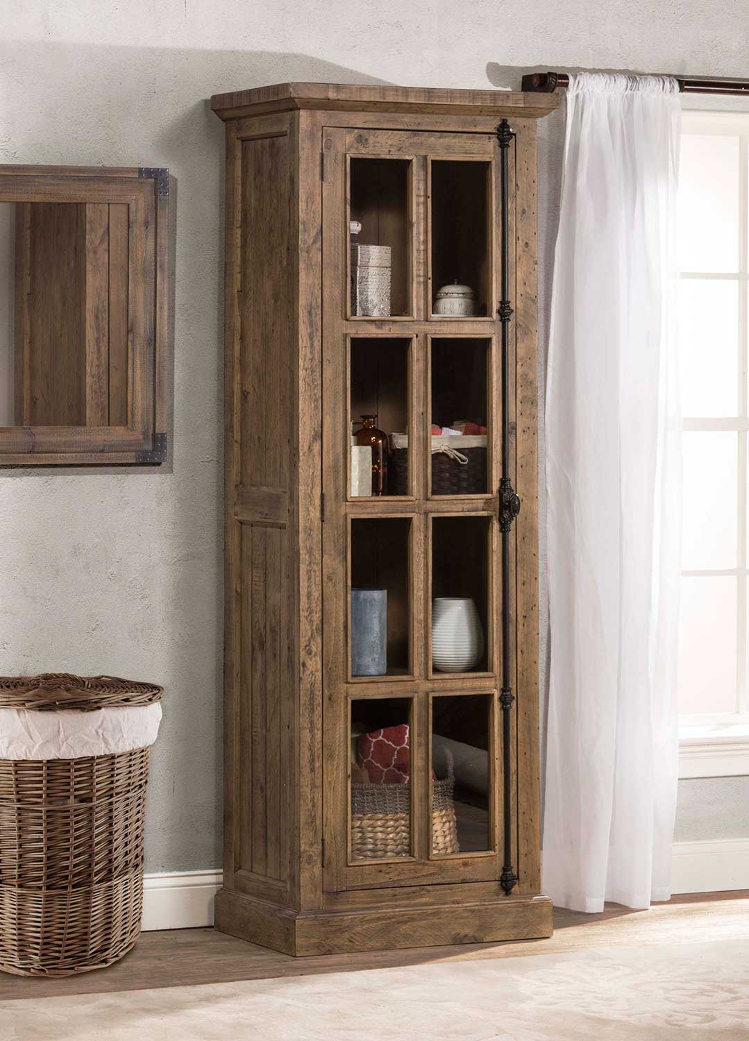 Hillsdale Tuscan Retreat Tall Single Door Cabinet - Aged Gray