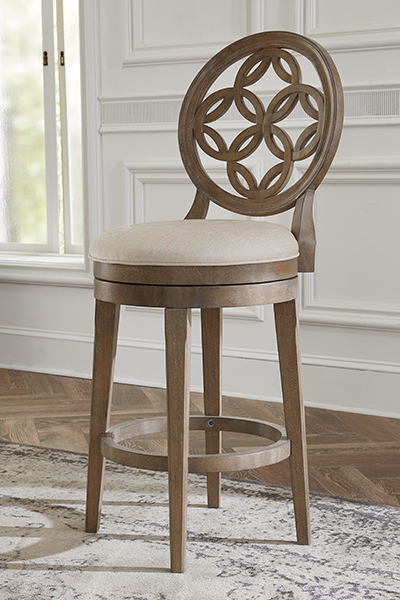 Hillsdale Savona Swivel Counter Stool - Vintage Gray