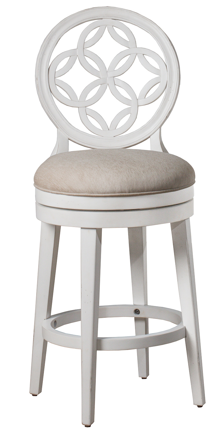 Hillsdale Savona Swivel Counter Height Stool - White