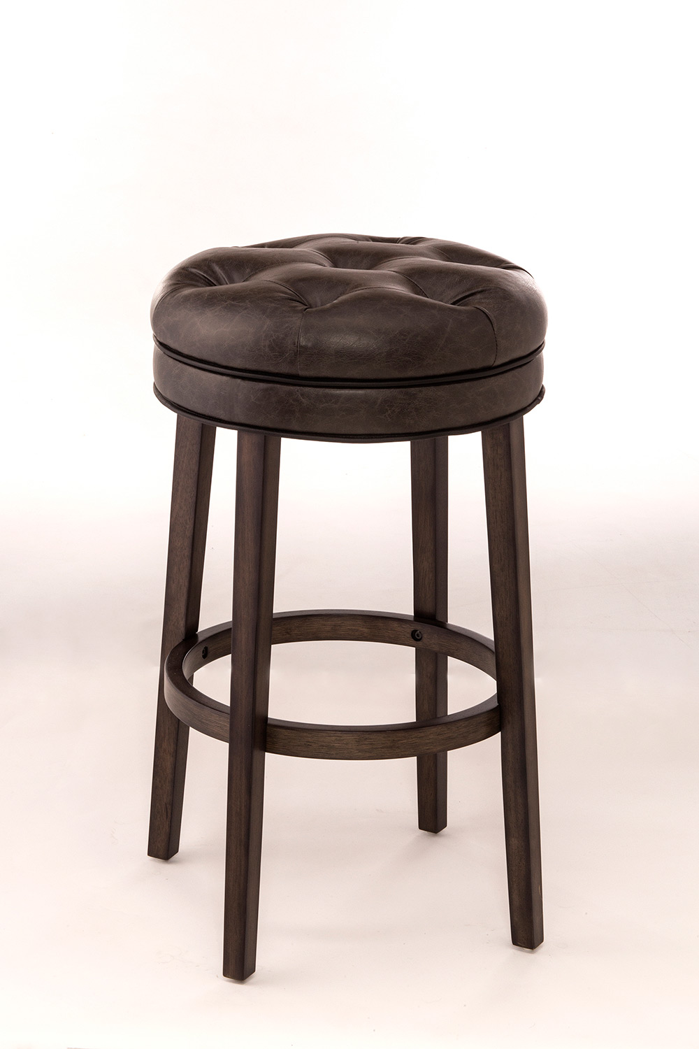 Hillsdale Krauss Backless Swivel Counter Stool - Gray Faux Leather
