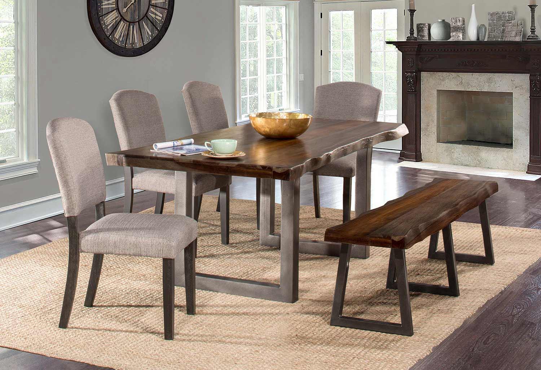 Hillsdale Emerson Dining Set - Gray Sheesham