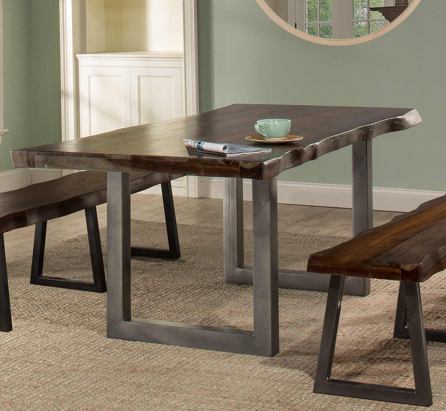 Hillsdale Emerson Rectangle Dining Table - Gray Sheesham