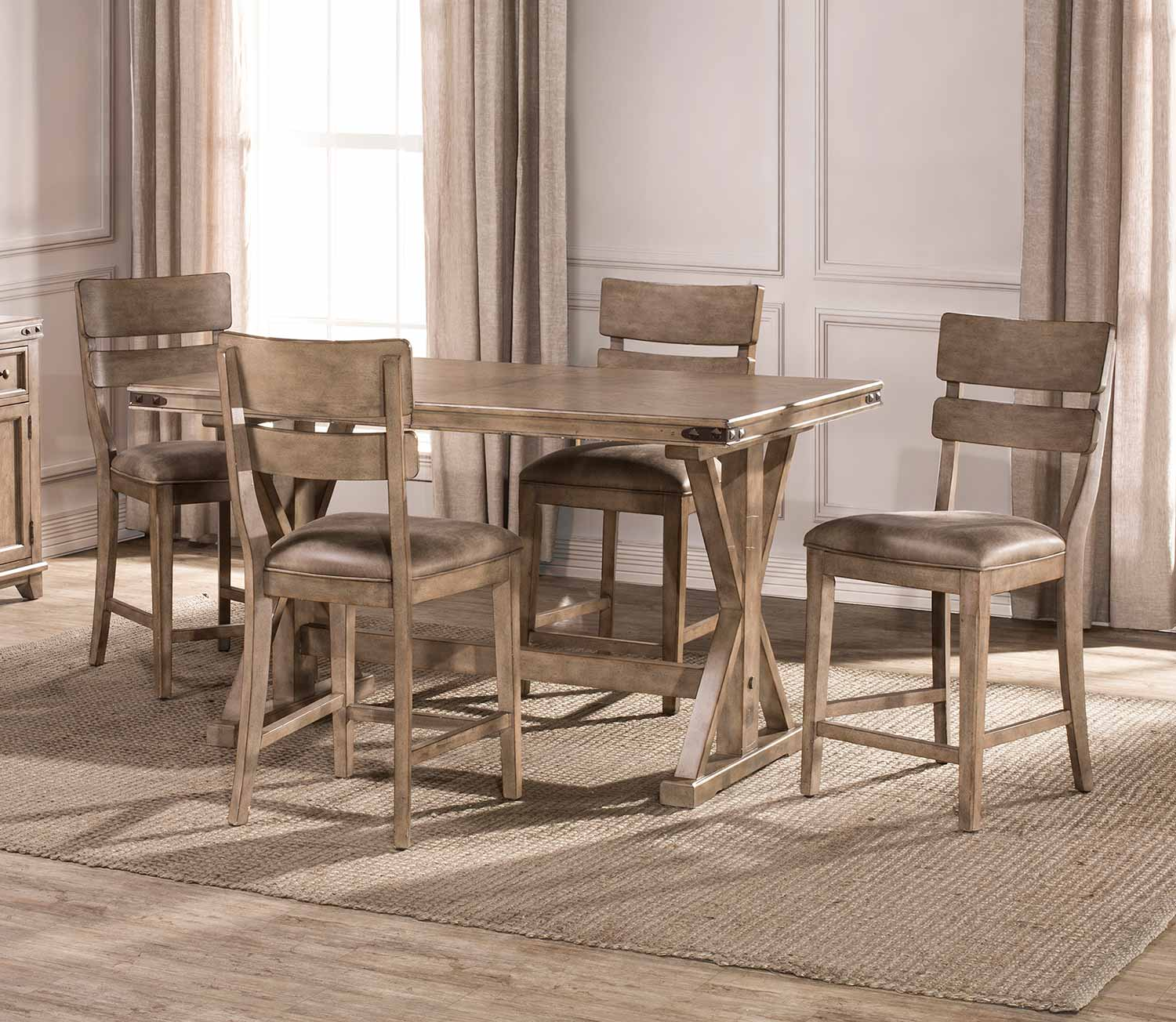 Hillsdale Furniture Bennington 5pc Dining Room Set In: Hillsdale Leclair 5-Piece Counter Height Dining Set