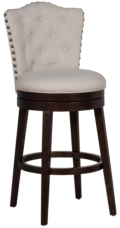 Hillsdale Edenwood Swivel Counter Height Stool - Cream Fabric