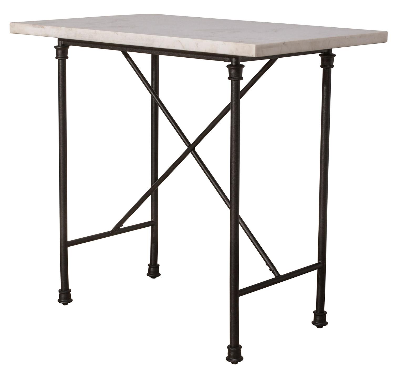 Hillsdale Castille Counter Height Table - Black/White