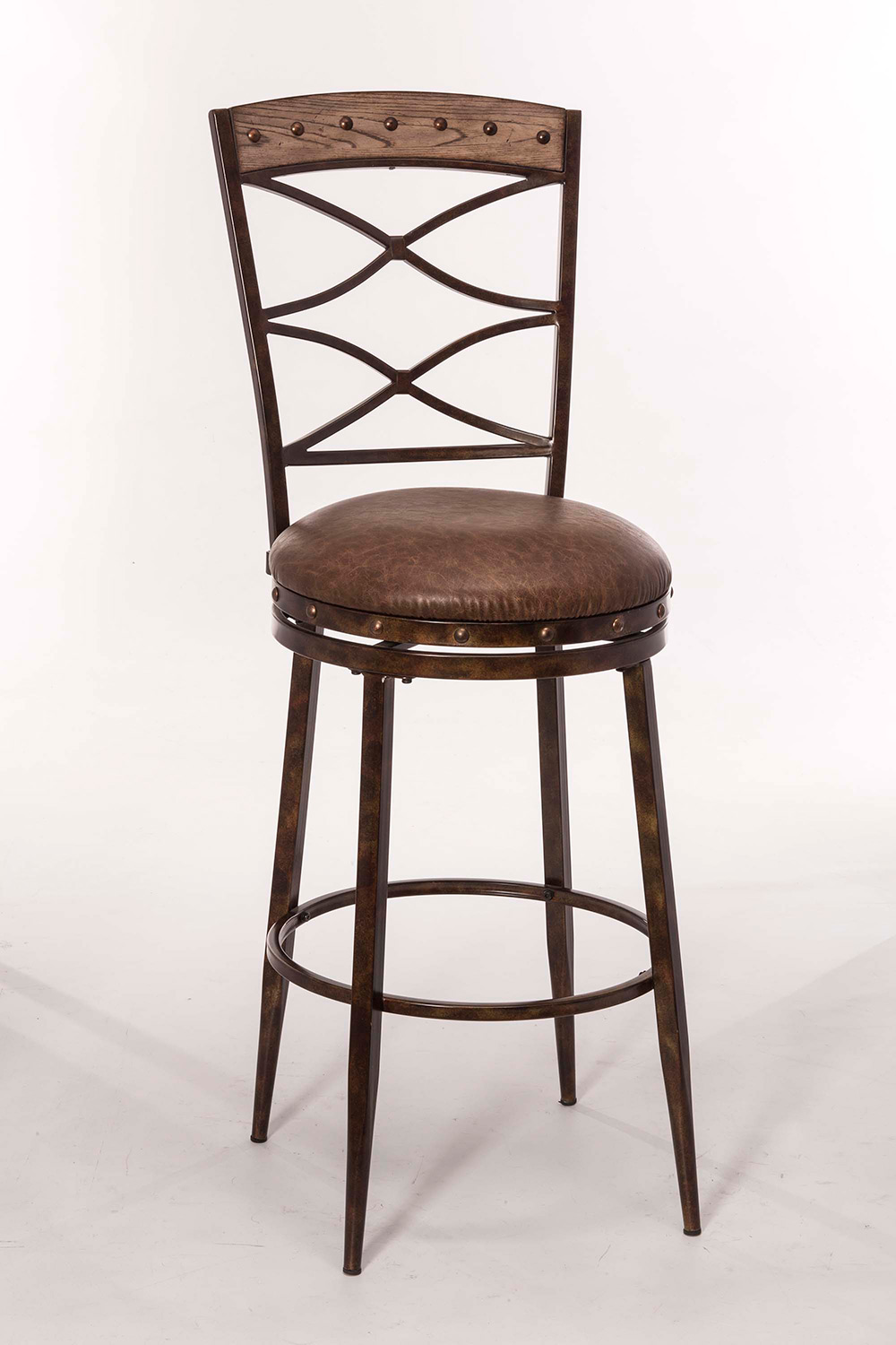 Hillsdale Emmons Swivel Bar Stool - Washed Gray