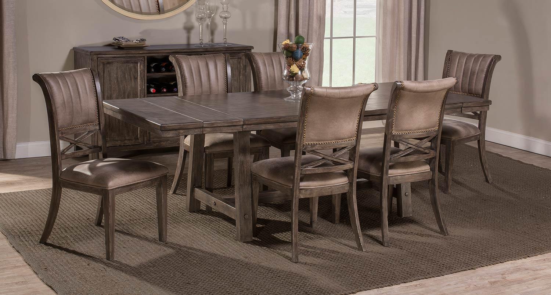 Hillsdale Legacy 7-Piece Dining Set - Dark Grey