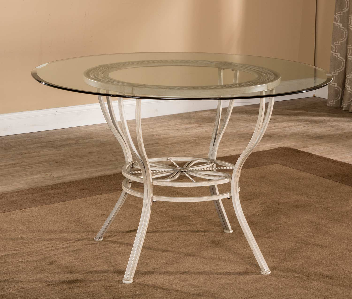 Hillsdale Napier Round Dining Table - Aged Ivory