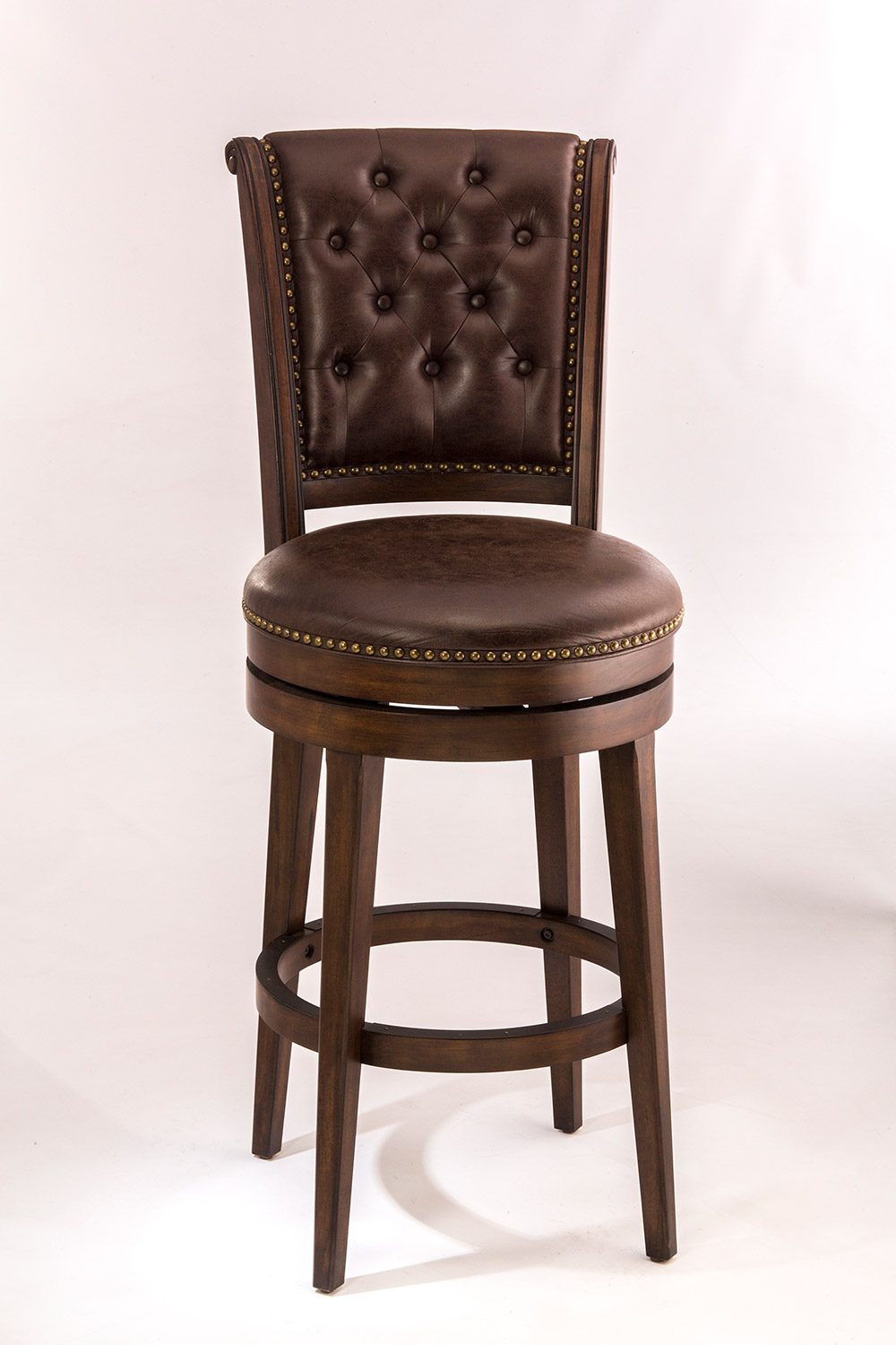 Hillsdale Chiswick Swivel Counter Stool - Brown Cherry