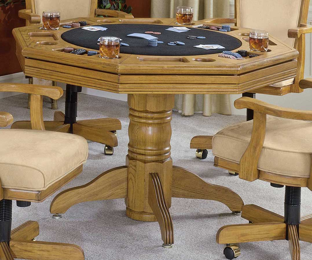 Hillsdale furniture classic oak game table buy dining for Dining room game table