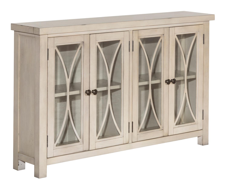 Hillsdale Bayside 4-Door Cabinet - Antique White