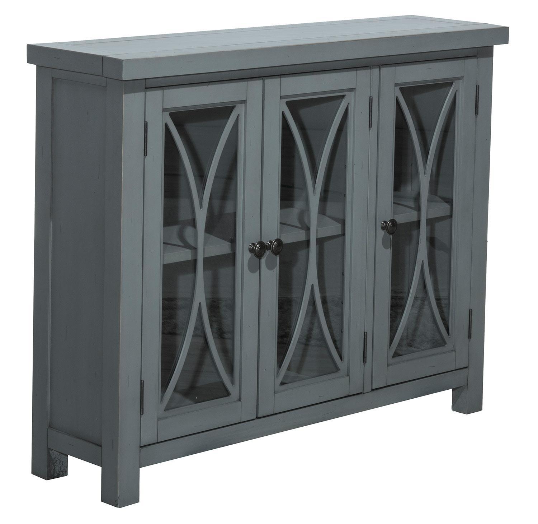 Hillsdale Bayside 3-Door Cabinet - Robin Blue