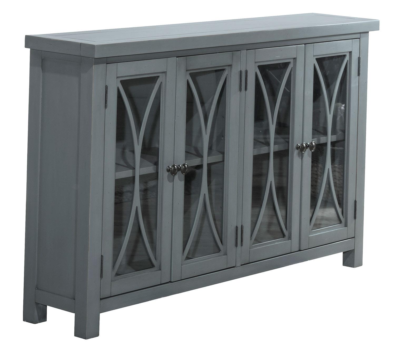 Hillsdale Bayside 4-Door Cabinet - Robin Blue