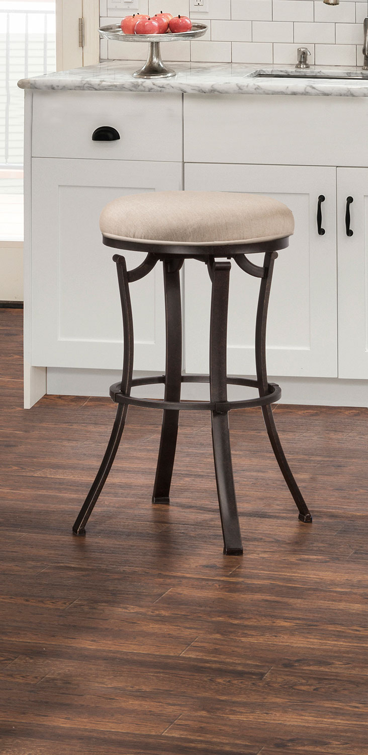 Hillsdale Bryce Indoor/Outdoor Backless Swivel Counter Stool - Midnight Mocha