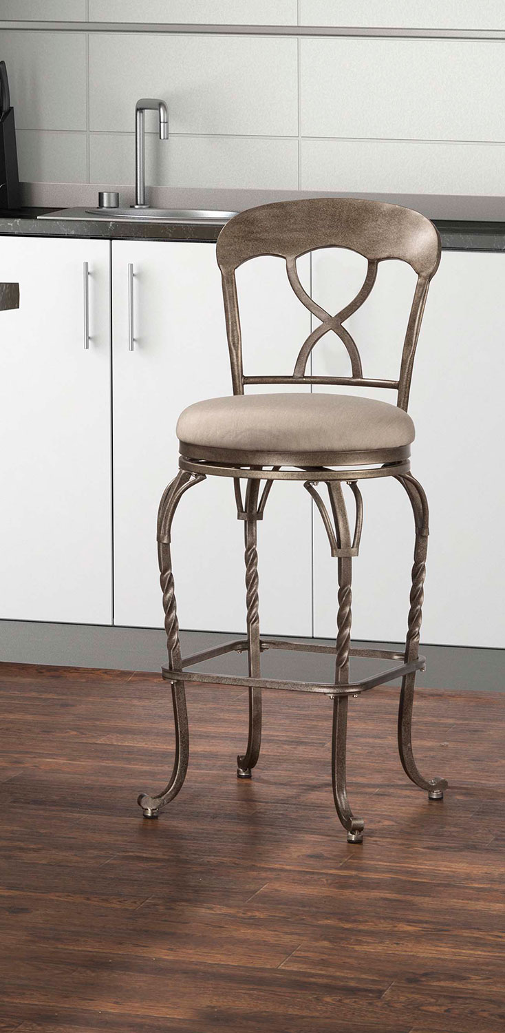 Hillsdale Glendover Indoor Outdoor Swivel Bar Stool Hd