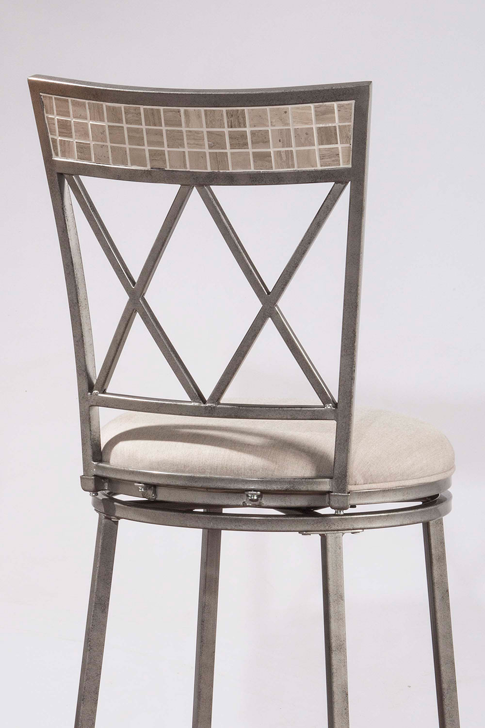 Hillsdale Milestone Indoor/Outdoor Swivel Counter Stool - Aged Pewter
