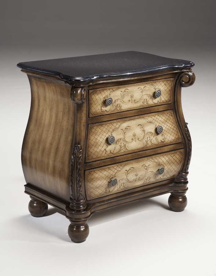 Hillsdale Chandler Petite Bombay Chest with Black Granite Top