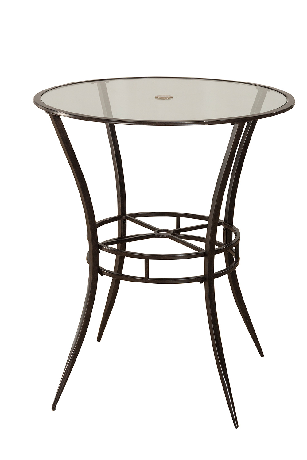 Hillsdale 6323PTB Indoor Outdoor Bar Height Bistro Table Antique Black HD 6