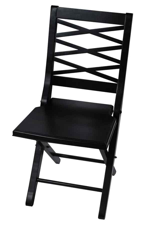 Hillsdale Furniture Marseille Weathered White Finish Folding Chair